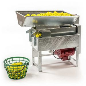 Golf ball washer for low to medium volume driving range