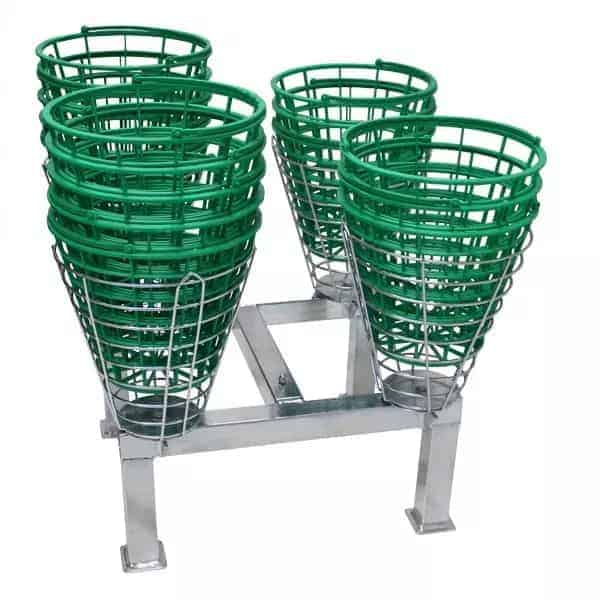 Basket Stand for golf baskets and driving range baskets
