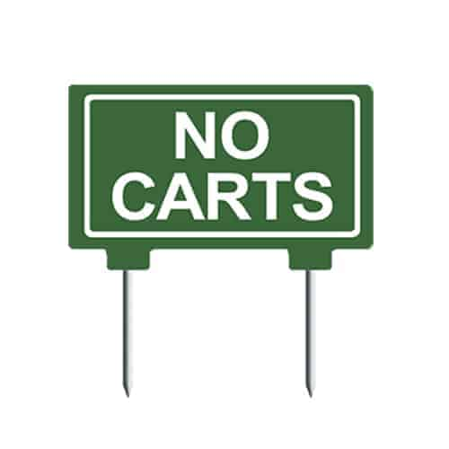 10x5 No Carts golf course sign