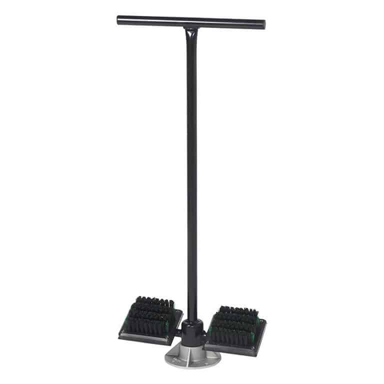 Golf Shoe Brush Spike Stand with Base Brush
