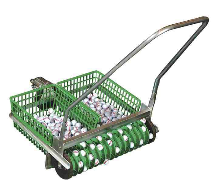 Dual Basket Hand Push Golf Ball Picker