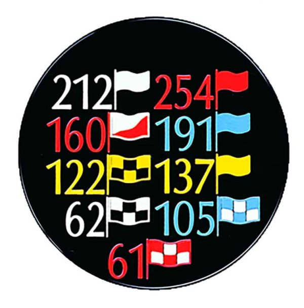 In-ground Yardage Marker with Range Flags