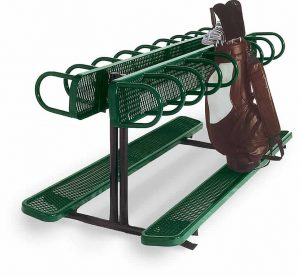 Bag Rack Station with Bench