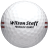 White Wilson Premium Range Ball with Red Stripe