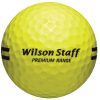 Yellow Wilson Premium Range Ball with Black Stripe