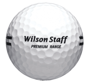 White Wilson Premium Range Ball with Black Stripe