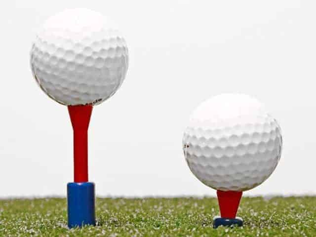 Golf Tee that adjusts to multiple heights