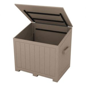 Large Tan Divot Mix Storage Box with Open Top