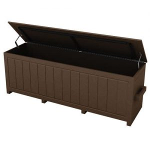 Medium Brown Divot Mix Storage Box with Open Top