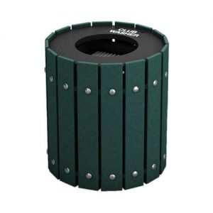 Green Round Slatted Golf Club Washer