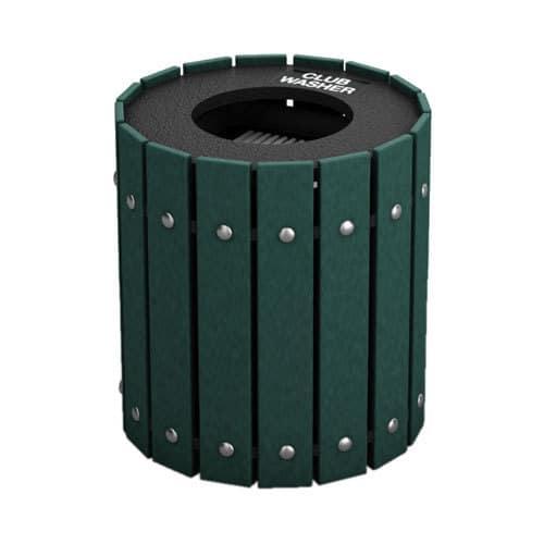 Green Round Slatted Golf Club Washer
