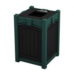 Deluxe Square Golf Club Washer with Keystone, Black with Green Trim