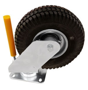 Golf Ball Picker Spare Part - Heavy Duty Picker Wheel Complete with Castor and Deflector Peg