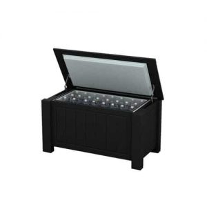 Medium Black Ice Chest Cooler Enclosure Box with Short Legs