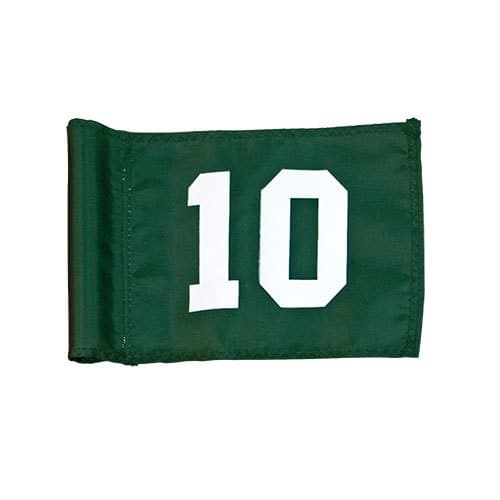 numbered practice green flag for golf course putting green