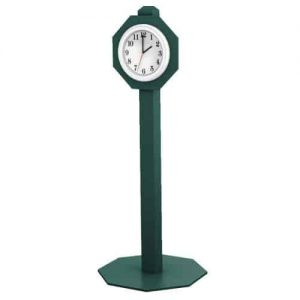 Green Starter Clock on post for Golf Course