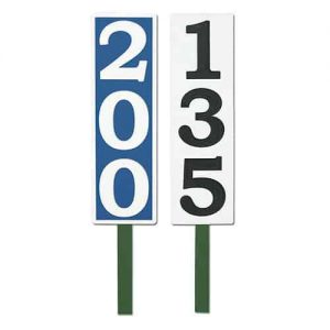 Vertical Yardage Signs