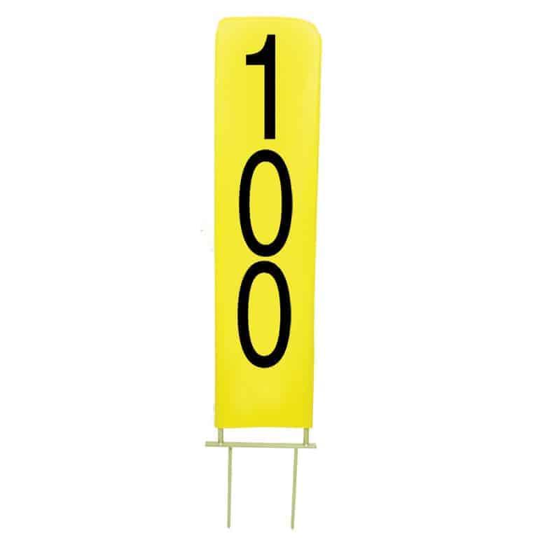 Vertical Yardage Marker 100 yards for Driving Range