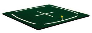 Golf Range Mat that helps golfers perfect swing alignment