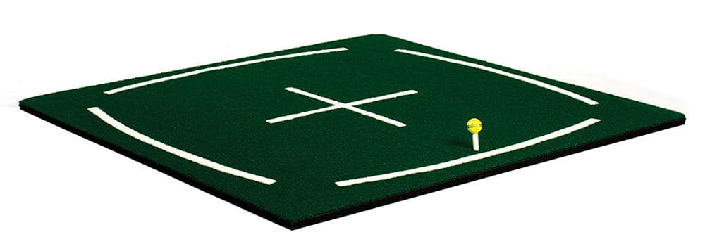 Golf Range Mat that helps golfers perfect swing alignment